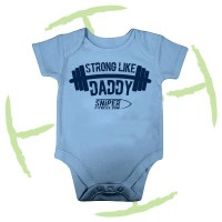 BATTLE CRY BABYGROW LIGHT BLUE