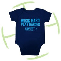 BATTLE CRY BABYGROW NAVY