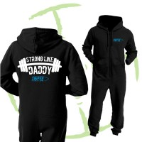 BATTLE CRY ONESIE - BLACK