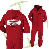 BATTLE CRY ONESIE - RED